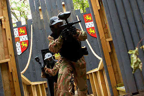 Allied Paintball - Paintballing Day for Five  with 100 Paintballs, Light Lunch, and Tea or Coffee - Save 95%