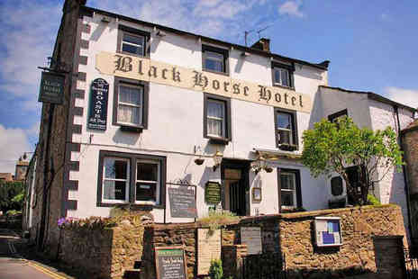 The Black Horse Hotel - One Night  Yorkshire Dales Hotel Break for Two with Breakfast Daily and a Two Course Dinner - Save 51%