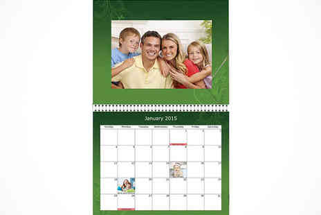 Uk Photo Deals - Personalised A4 Photo Calendar - Save 61%