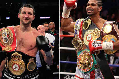 Gala Events - An Evening with Carl Froch and David Haye Including Three Course Meal, Q&A, Auction and Complimentary Drinks for One  - Save 46%