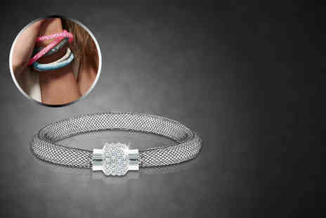 Diamond Style - Stardust mesh bracelet filled with over 700 crystals - Save 83%