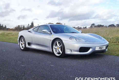 Golden Moments - 25 Mile Ferrari 360 Driving Experience - Save 64%