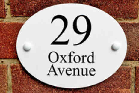 City House Signs - Personalised Oxford House Sign - Save 42%