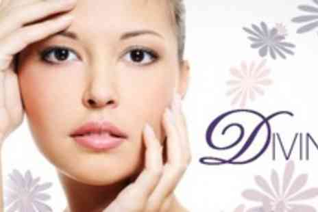 Divine - Choice of Spa Manicure and Pedicure , Spa Facial With Eye Contour Treatment - Save 67%