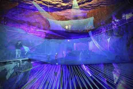 Bounce Below - Trampoline Cavern Evening Experience Plus Drink  - Save 32%