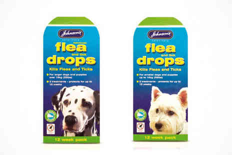 Discountpet Supplies  -  Choice of Belphar or Johnsons Dog Flea & Tick Drops - Save 52%
