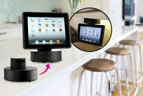 Velocity Outlet - IPad kitchen flip down mount & speakers - Save 60%