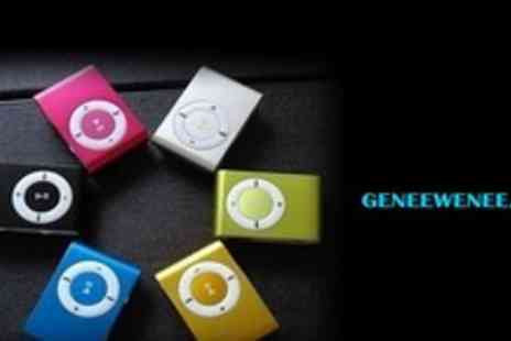 Genee Wenee - Stylish and Portable Mini MP3 Player with 4GB micro SD Card and Earphones - Save 63%