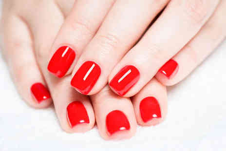 Ambertone Health - Deluxe Manicure including Exfoliation, Massage, Cuticle Treatment, and OPI Gel Nails - Save 50%