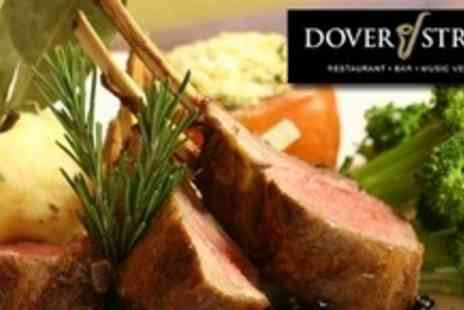 Dover Street - Dinner and Dancing Night Out With Five Course Meal and Live Jazz For Four - Save 54%