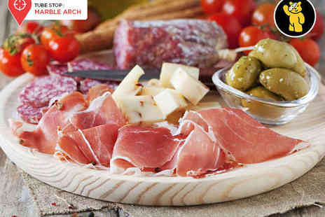 Truc Vert - Cheese, Charcuterie, or Mixed Platter with a Bottle of Côtes du Rhône Rouge Wine for Two - Save 54%