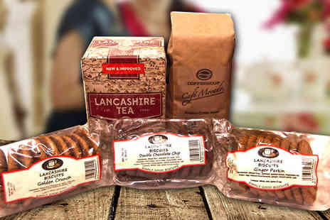 Stock Nation - Lancashire Tea, Coffee and Biscuits Hamper - Save 64%
