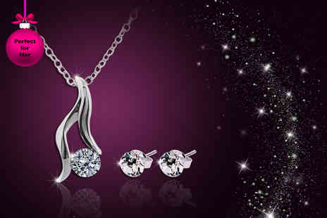 Diamond Style - Adore duo set made with Swarovski Elements - Save 86%