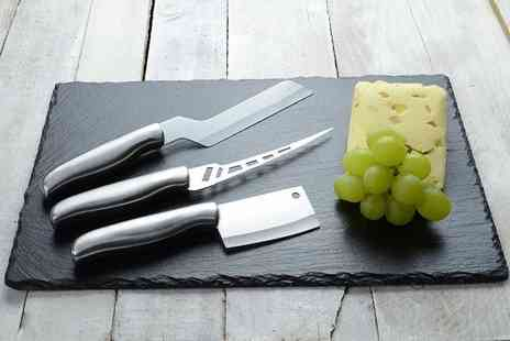 Homeware - Four piece slate cheeseboard and culinary set - Save 84%