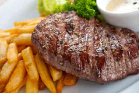 Station 22 - Hearty 8oz Steak with Bread, Olives and Hummus for Two - Save 57%