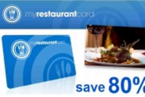 My Restaurant Card - Get Half Price Meals at Over 150 Restaurants Across London - Save 80%