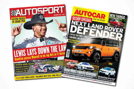 Autosport - Four Month Weekly Subscription to Autosport or Autocar Magazine - Save 64%