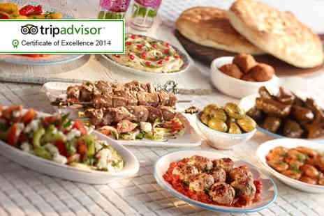 Turkish Kitchen -  8 dish Turkish meal for 2 including Turkish bread to share and a soft drink - Save 43%