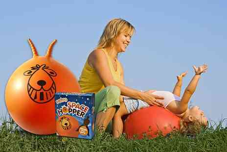 Stock Nation - Retro orange space hopper and hand pump - Save 67%