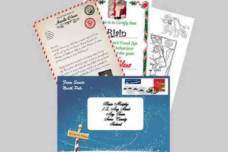 Santa Claus Post - Personalised Letter from Santa, Including a Certificate for Good Behaviour and a Colouring Page - Save 43%