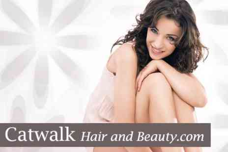 Catwalk Hair and Beauty - Six Sessions of IPL Hair Removal on One Medium Area and Two Small Areas OR One Large Area and One Small Area - Save 84%