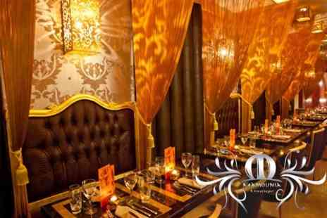 Mamounia Lounge - Two Course Moroccan Meal For Two People With Wine - Save 60%