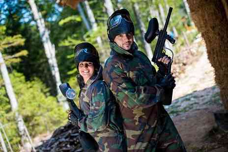 Project Paintball - Full day of paintballing for up to 5 including  lunch & 150 paintballs each - Save 90%