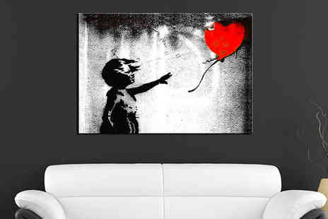 Red Art - One 60cm x 40cm Single Panel Canvas Print with Delivery Included - Save 51%