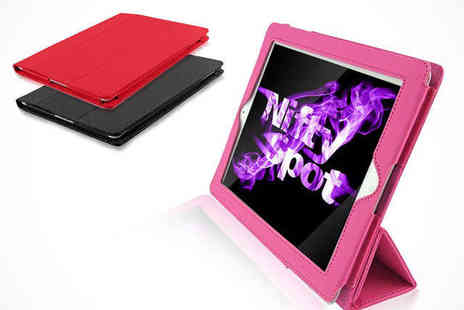 Nifty Spot - Flip Stand Case for iPad in a Choice of Colours - Save 64%