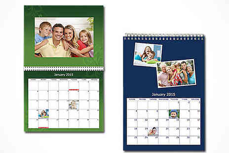 Uk Photo Deals - Personalised Wall Photo Calendar - Save 62%