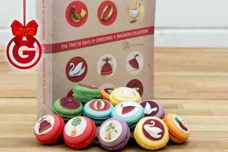 On Cookery Club -  12 Days of  Macarons Christmas Box  - Save 51%
