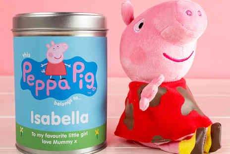 Getting Personal - Personalised Peppa Pig Teddy in a Tin - Save 50%