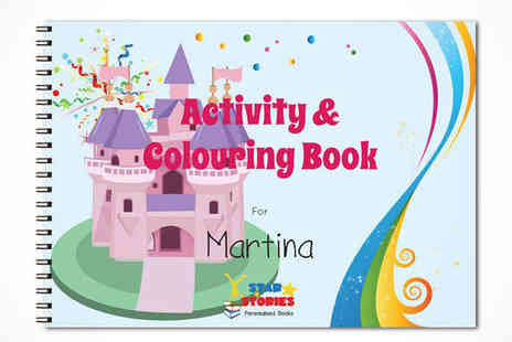 Star Stories - Personalised Activity and Colouring Book  - Save 50%