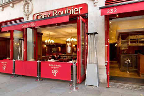 Chez Boubier - Two Course Entrecote Steak Meal with French Fries and a Glass of Champagne - Save 39%