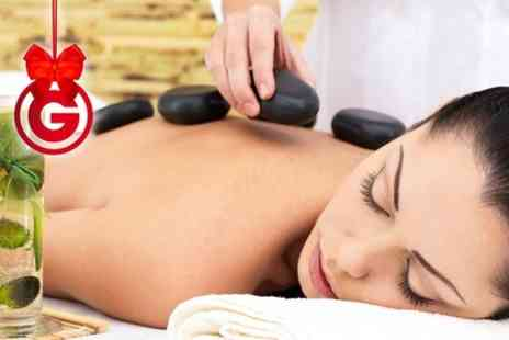 Royas Salon - Womens Hot Stone Massage Plus Facial - Save 71%