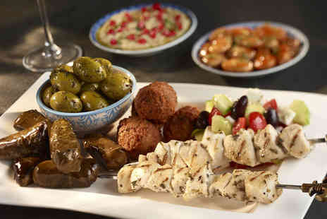 Station 22 - Mezze sharing platter and wine for 2  - Save 51%