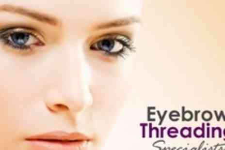 Eyebrow Threading Specialists - Threading for Two Areas at Choice of Four Salons - Save 69%