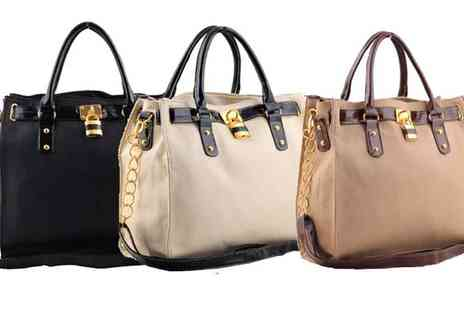 Sonic Online Ltd - Ladies  Padlock Bag in Two Colours - Save 47%