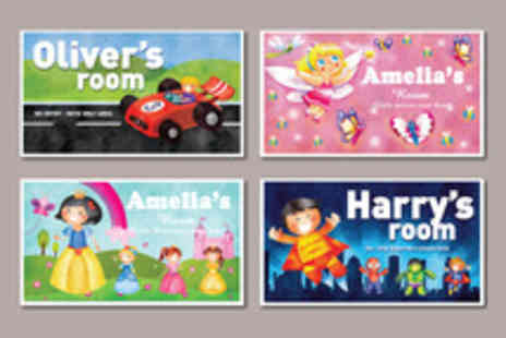 Frame My Name - Childrens Personalised Illustrated Door Signs - Save 72%