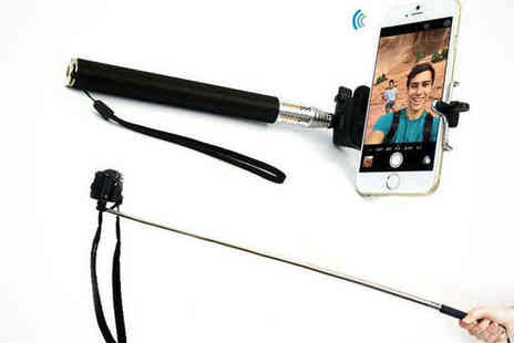 Saproducts - Selfie Stick with Bluetooth Remote - Save 70%