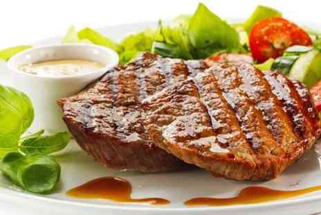 unique fish and grill - Two Course Steak Meal For Two  - Save 54%