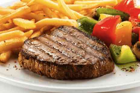 The Yard Ilkley - Chargrilled 8oz steak & chips with garnish for Two - Save 0%