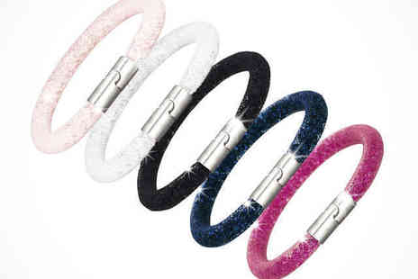 Diamond Style - Ice Crystal Mesh Bracelet in White, Black, Navy, Pink, or Peach - Save 77%