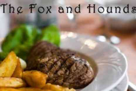The Fox and Hounds - Two Course Pub Dinner With Coffee for Two - Save 58%