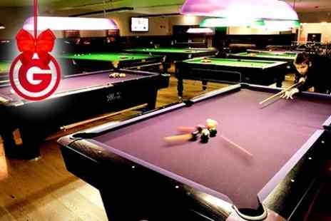 The Ball Room - Three Hour Snooker or Pool Starter Package With Membership, Cue, Case & Table Time - Save 52%