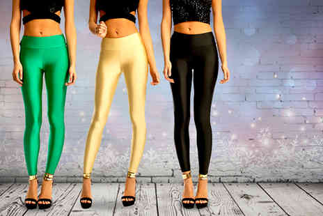 iKRUSH - Pair of high-waisted disco pants in a choice of 6 colours - Save 77%