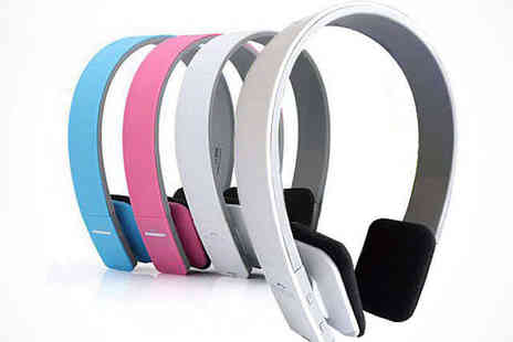 Bluetooth Headphones  - Bluetooth Headphones in Blue, Pink, or White, Delivery Included - Save 74%