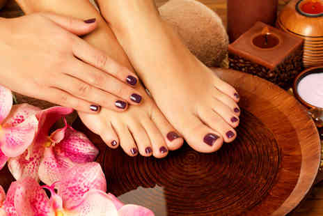 Enhance Clinic - Shellac manicure and pedicure  - Save 53%
