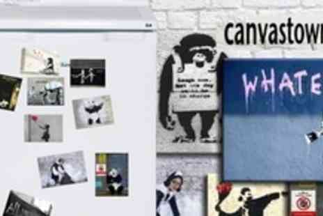 Canvas Town - Seven Banksy Print Fridge Magnets - Save 52%