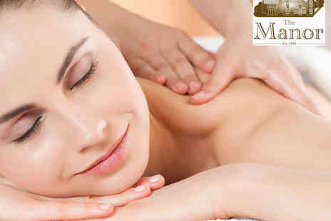 The Manor - Spa Day with Back, Neck, and Shoulder Massage and Use of the Facilites for One  - Save 57%